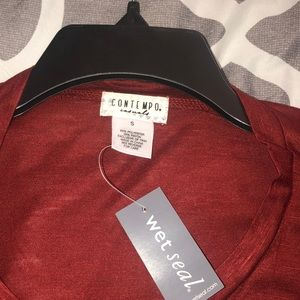Wet Seal Other - CONTEMPO casuals Brick red women blouses